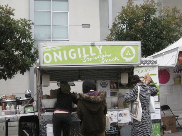 Onigilly food cart at Japantown.