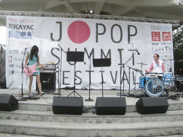 The Glowing Stars on stage at J-Pop Summit Festival.