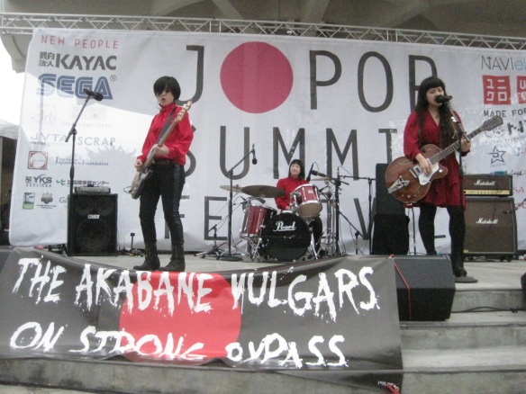 Akabane Vulgars on stage at J-Pop Summit.