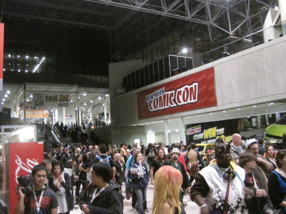 New York Comic-Con on a cold Friday night, October 12, 2012.