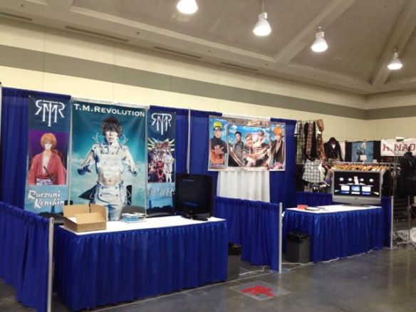 Booths for T.M.Revolution and Home Made Kazoku at Otakon 20, set up by JHouse-Rock.