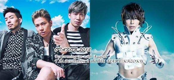 Home Made Kazoku and T.M.Revolution promotional photo for Otakon 20.