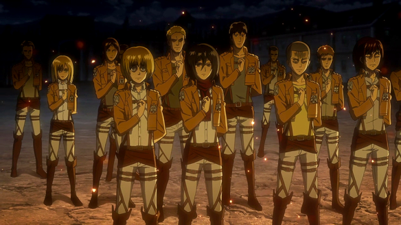 The Survey Corps and their uniforms.